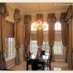 Arch Window Drapery Panels-6