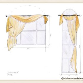 Golden Needle Drapery sketch-8